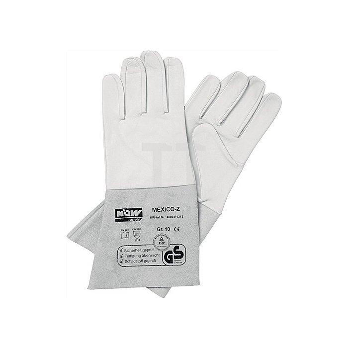 NOW Handschuh Mexico Z Gr. 10 Ziegennappaleder weiss