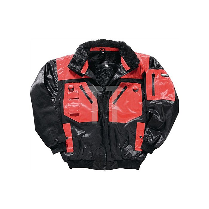 NOW Pilotenjacke 4in1 Gr.XL schwarz/rot Beaver-Nylon