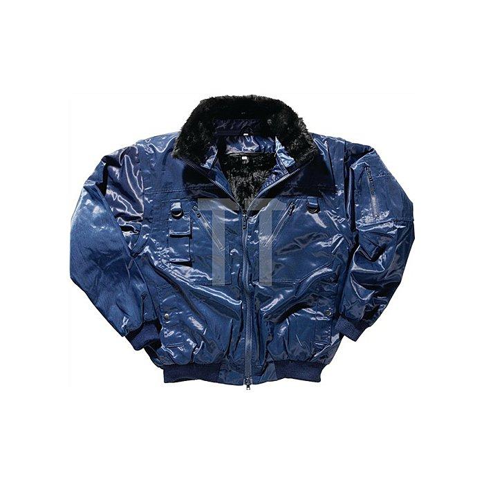 NOW Pilotenjacke Gr.L blau 50%Beaver-Nylon/50%CO