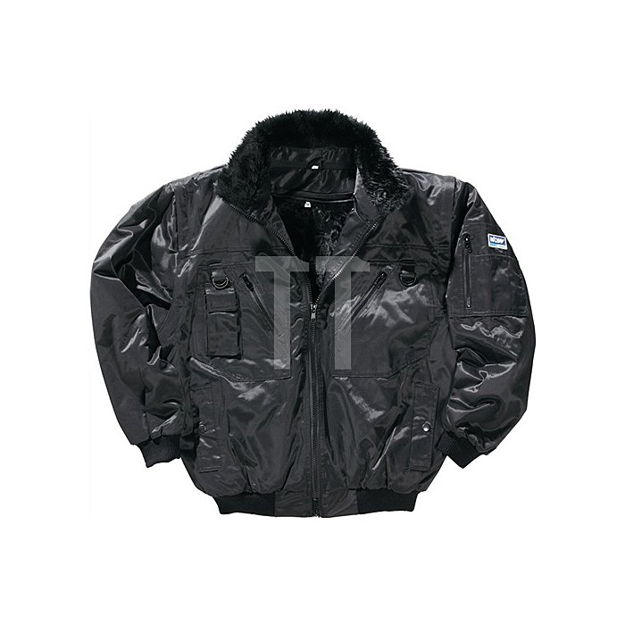 NOW Pilotenjacke Gr.XL schwarz 50%Beaver-Nylon/50%CO