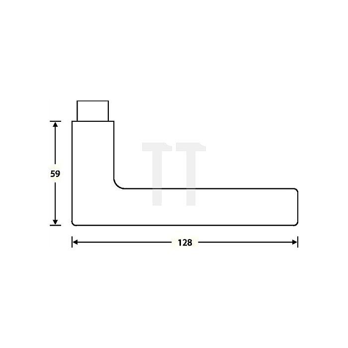 Objekt-Garnitur 72 1005 Rosette WC Aluminium F1 naturfarbig
