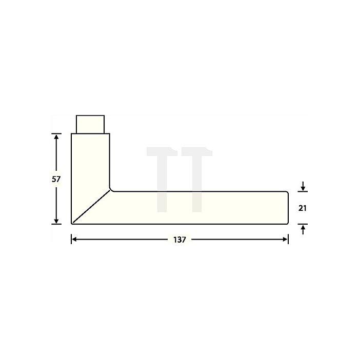 Objekt-Garnitur 72 1076 Rosette PZ Aluminium F1 naturfarbig