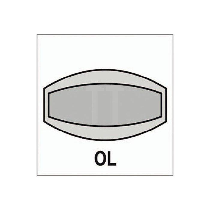 Objekt-Garnitur Form 72 1023 Rosette WC Aluminium F1 naturfarbig