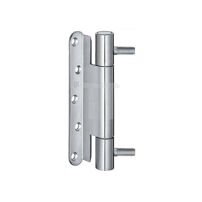 Objektband Variant VN 3738/160 D.22,5mm L.160mm Stahl matt vernickelt F2 DIN re.