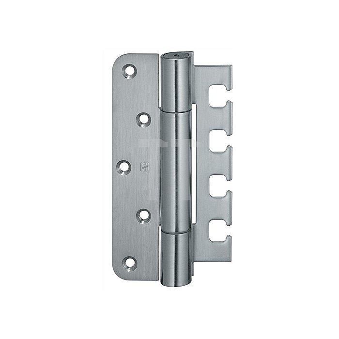 Objektband Variant VN 7729/160 Tragfähigkeit 120kg Stahl matt vernickelt / F2