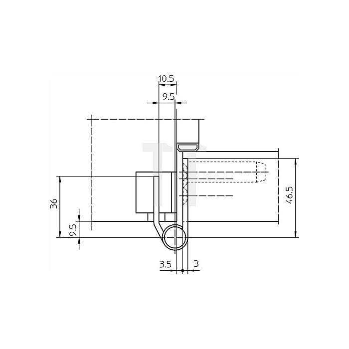 Objektband Variant VX 7729/160 Planum L.160mm D.15mm matt Chrom ungefälzt
