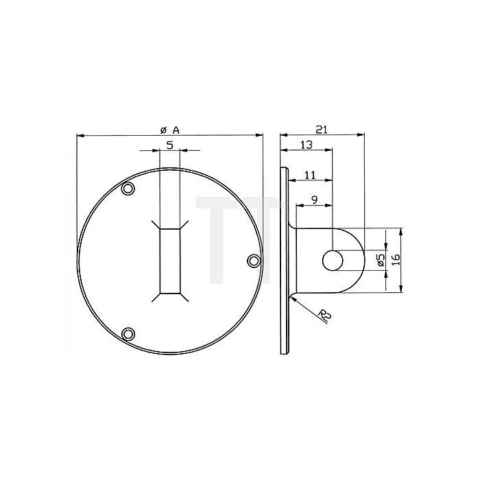 Ösenrückwand f.Außenring-D.58mm f.Messuhren