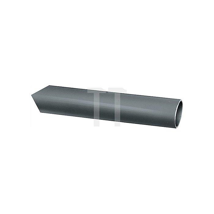 Ovalrohr nahtlos gezogen H.30mm B.15mm Stärke 1,0mm Chrom nahtlos Lager-L.5000mm