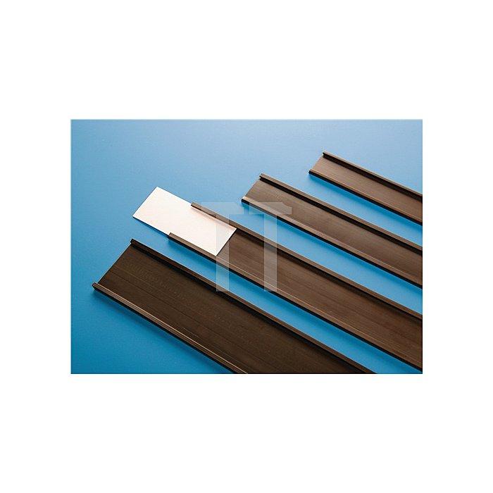 Papieretiketten B.27mm u.Folie f.C-Profil
