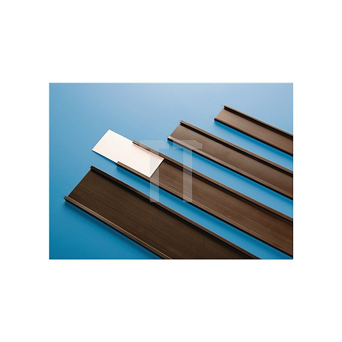Papieretiketten B.37mm u.Folie f.C-Profil