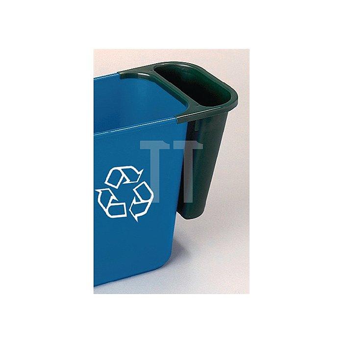 Papierkorbeinsatz 4,5l schwarz für Wertstoffbehälter