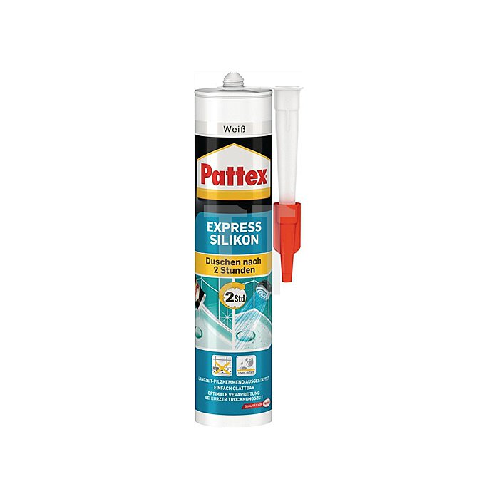 Pattex Express Silikon transparent 300ml -40 bis +150 grad