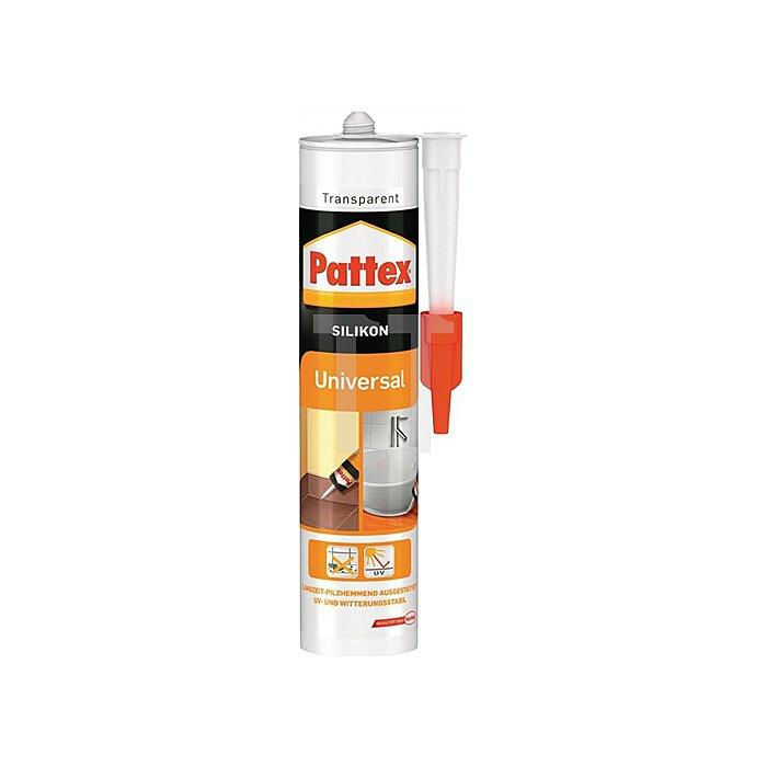 Pattex Universal Silikon Transparent 300ml -30 bis 120 Grad innen und außen