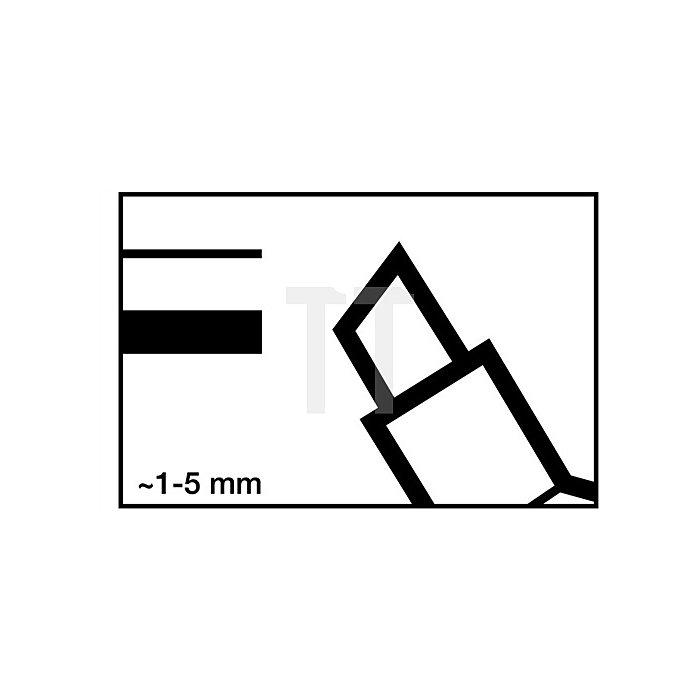 Permanentmarker 3300 Keilspitze rot Strichbreite ca. 1-5mm EDDING