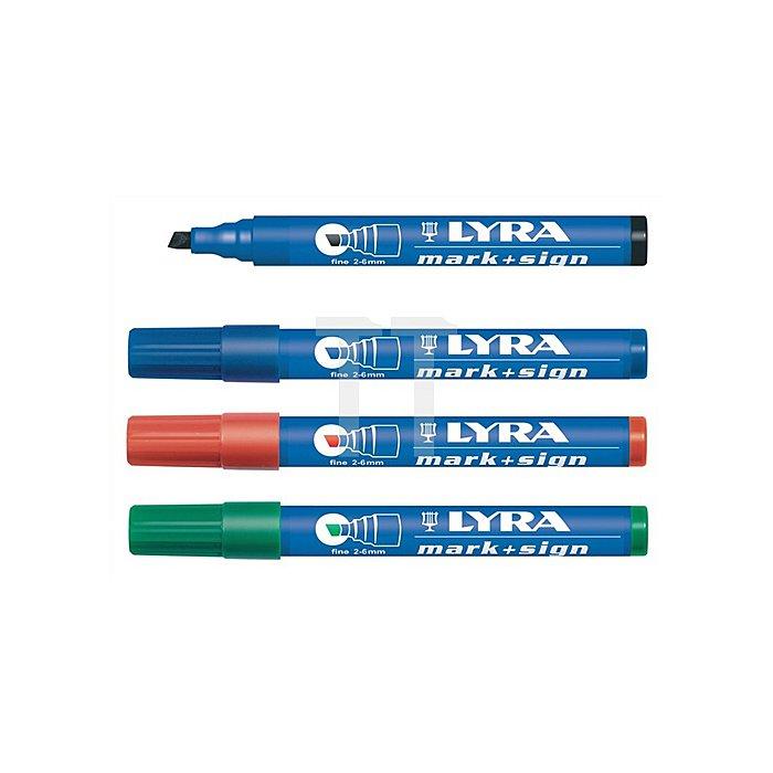 Permanentmarker blau Strich-B.2-6mm wasserfest LYRA