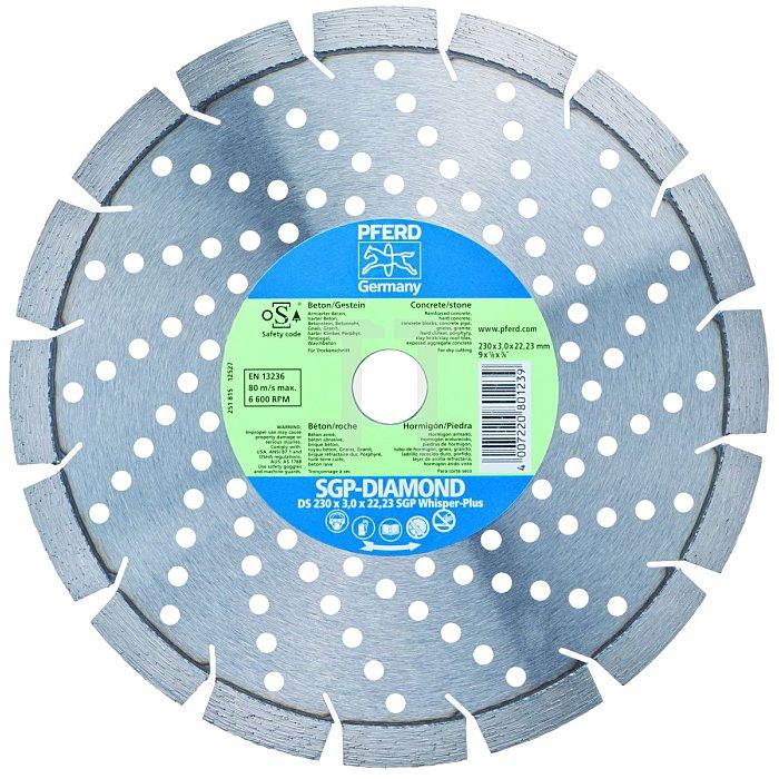 PFERD Diamant-Trennschleifscheibe für Beton & Gestein DS 230 x 22,23 SGP-WHISPER-PLUS
