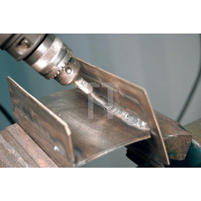 PFERD Pinselbürste mit Schaft, gezopft PBGS 1010/6 ST 0,20