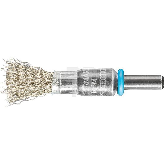 PFERD Pinselbürste mit Schaft, ungezopft PBU 1010/6 INOX 0,20