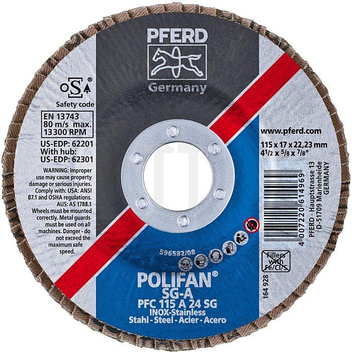PFERD POLIFAN®-Fächerscheibe PFC 115 A 24 SG/22,23