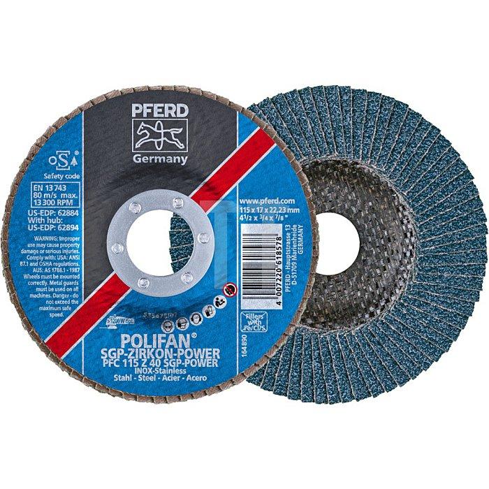 PFERD POLIFAN®-Fächerscheibe PFC 115 Z 40 SGP-POWER/22,23