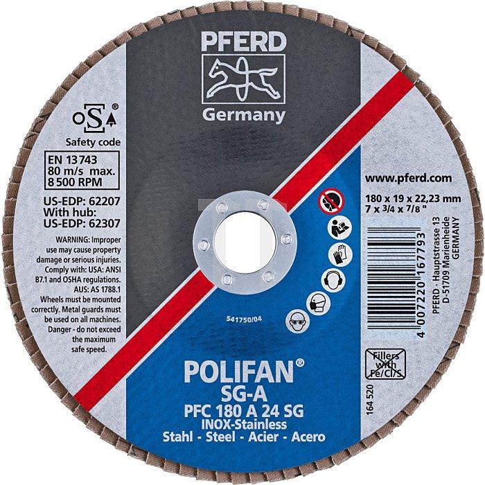 PFERD POLIFAN®-Fächerscheibe PFC 180 A 24 SG/22,23