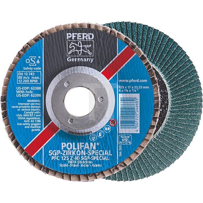 PFERD POLIFAN®-Fächerscheibe PFF 180 Z 40 SGP-SPECIAL/22,23