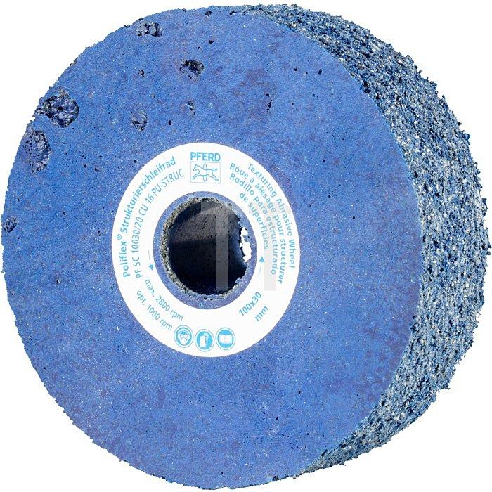 PFERD Poliflex®-Strukturierschleifrad PF SC 10030/20 CU 16 PU-STRUC