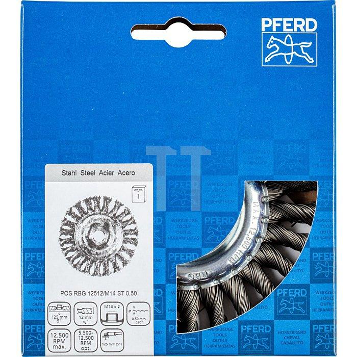 PFERD Rundbürste, gezopft POS RBG 12512/M14 ST 0,50
