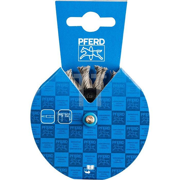PFERD Rundbürste mit Schaft, gezopft RBG 7006/6 INOX 0,50