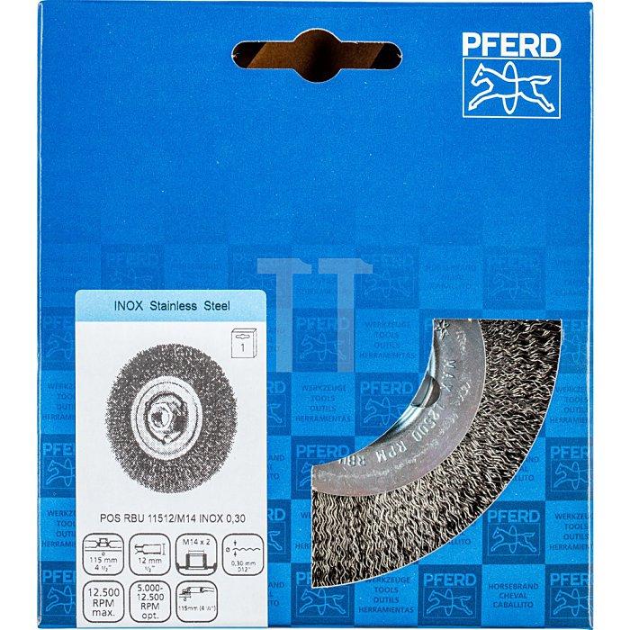 PFERD Rundbürste, ungezopft POS RBU 11512/M14 INOX 0,30