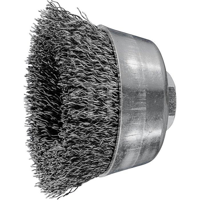 PFERD Topfbürste mit Gewinde, ungezopft TBU 60/M14 ST 0,30