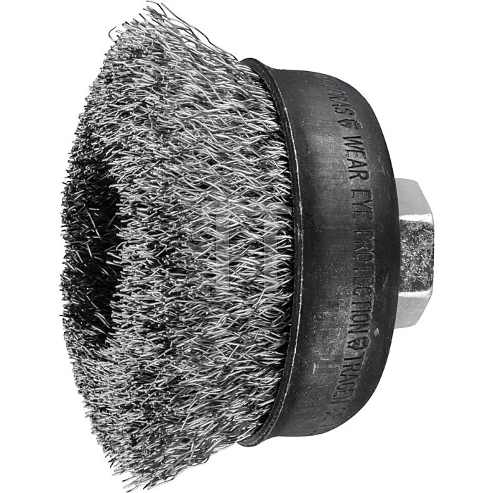 PFERD Topfbürste mit Gewinde, ungezopft TBU 75/M14 INOX 0,30