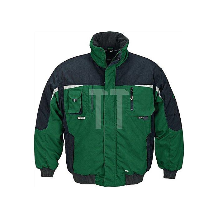 Pilotenjacke Gr. M grün/schwarz 65%PES/35%BW