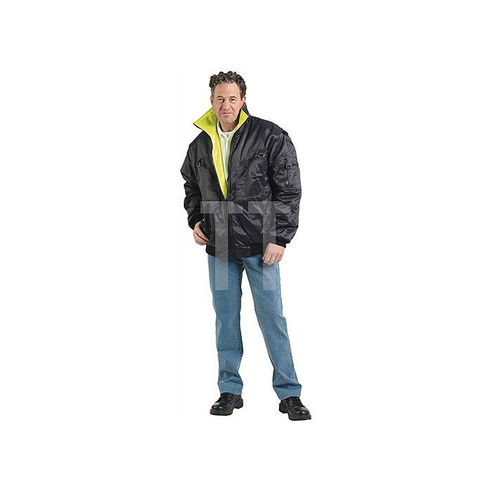 Pilotenjacke Gr.L gelb/schwarz abnehmb.Ärmel EN471