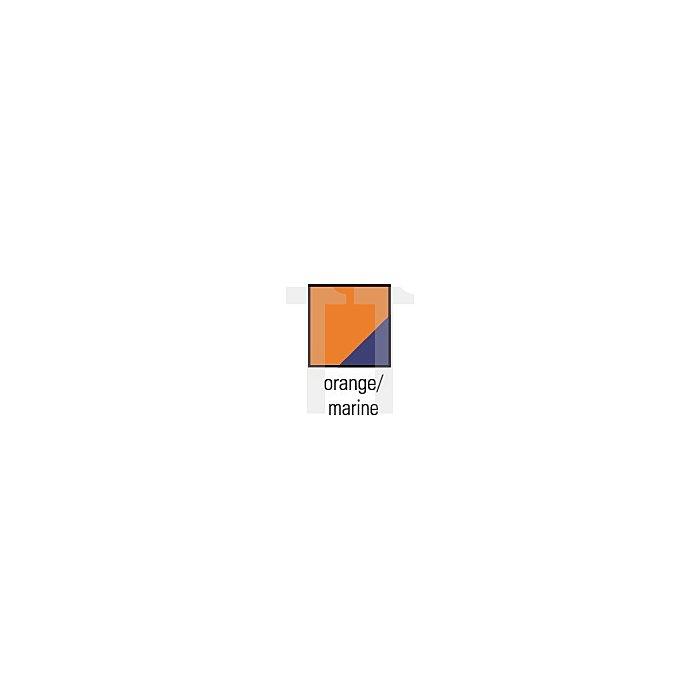 Pilotenjacke Gr.L orange/marine m.abnehmbaren Ärmeln z.Wenden EN470