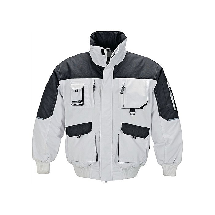 Pilotenjacke Gr.L weiss-grau 65% Polyester/35% Baumwolle,280g/m²,
