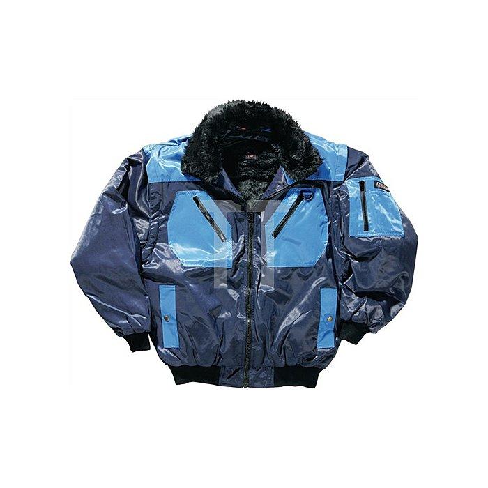 Pilotenjacke Gr.M marine/kornblau 50% Polyester/ 50% Baumwolle
