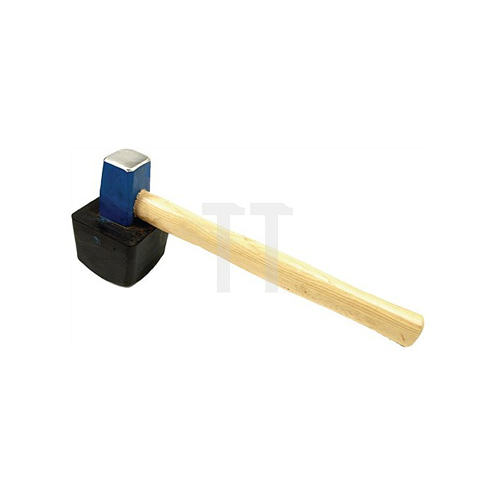 Plattenlegehammer 1.500 g, m. Stiel eckig