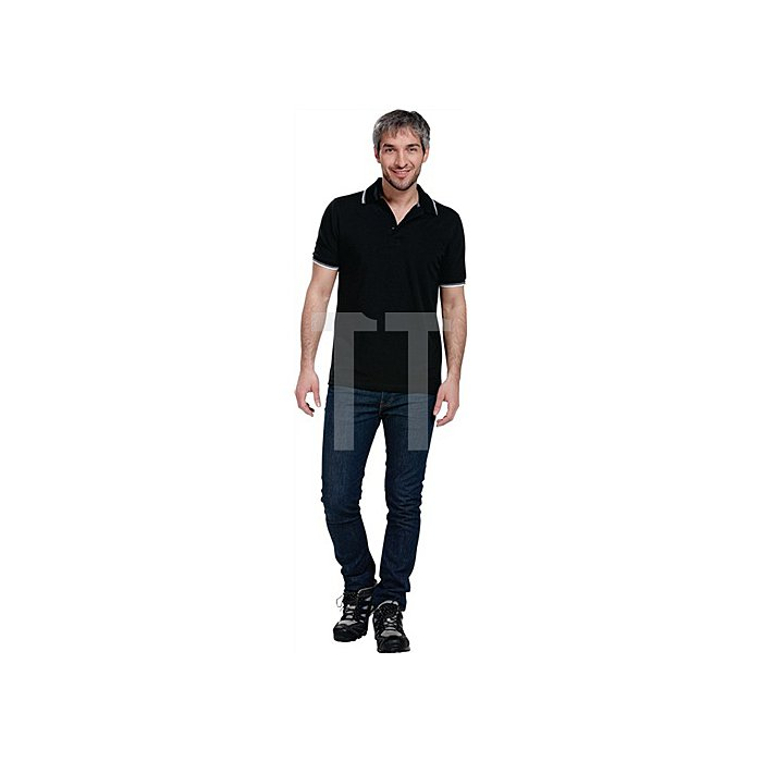 Polo Shirt Gr.L schwarz/weiss/grau 100% Baumwolle