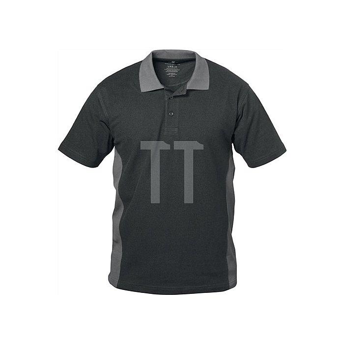 Polos Shirt Sevilla Gr.L schwarz/grau 100 % Baumwolle
