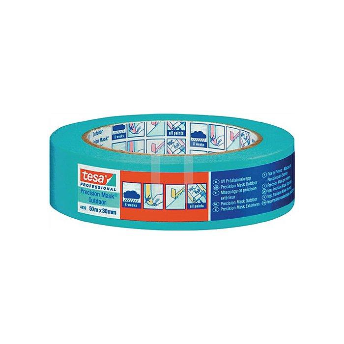 Präzisionkrepp tesa 4439 50m 30mm blau