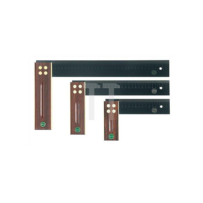 Präzisionswinkel L.150mm Palisanderholz gelasertemm-Skala ECE