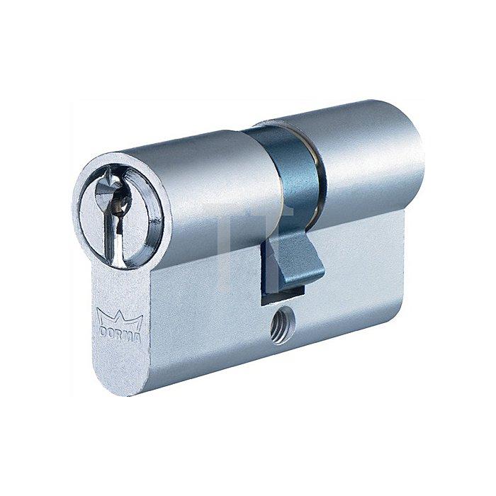 Profil-Doppelzylinder DEC150 1303 L. A 30mm L. B 30mm Messing matt vernickelt