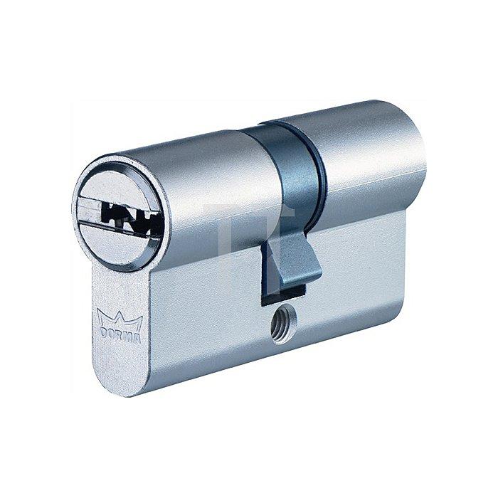 Profil-Doppelzylinder DEC261 1303 L. A 30mm L. B 30mm Messing matt vernickelt