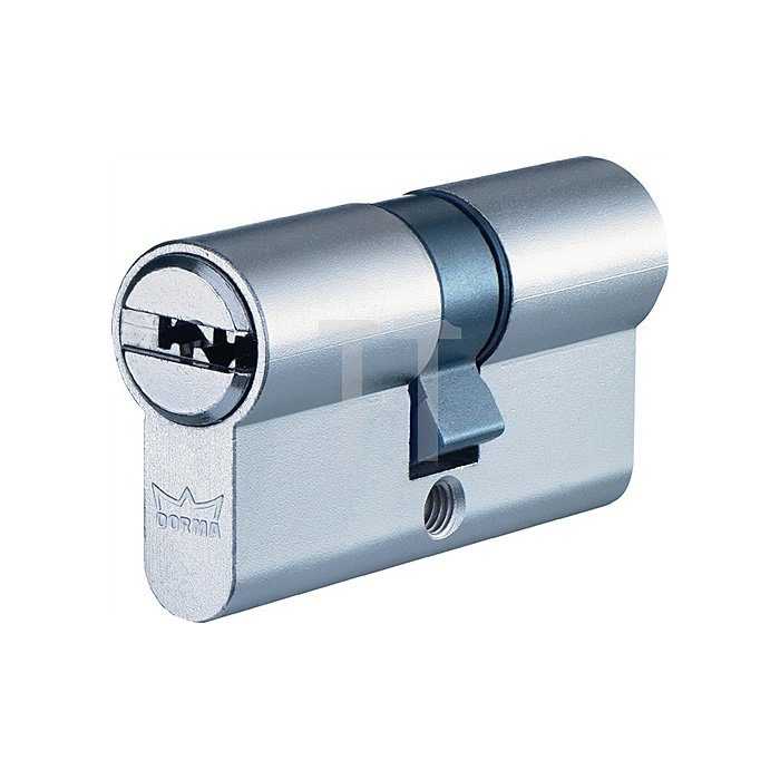Profil-Doppelzylinder DEC261 1303 L. A 35mm L. B 45mm Messing matt vernickelt