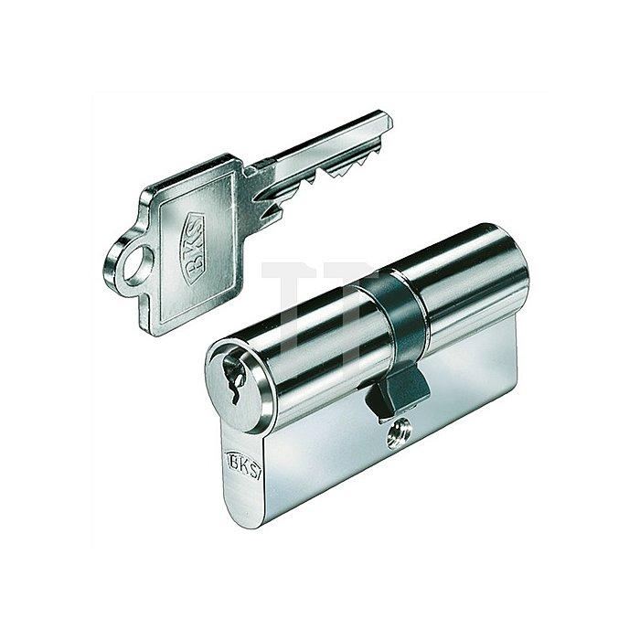 Profil-Doppelzylinder PZ 8812 DIN 18252 Kl. P 2 L. A 55mm L. B 55mm Massiv Ms.