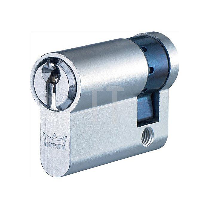 Profil-Halbzylinder DEC150 1303 L. A 30mm L. B 10mm Messing matt vernickelt