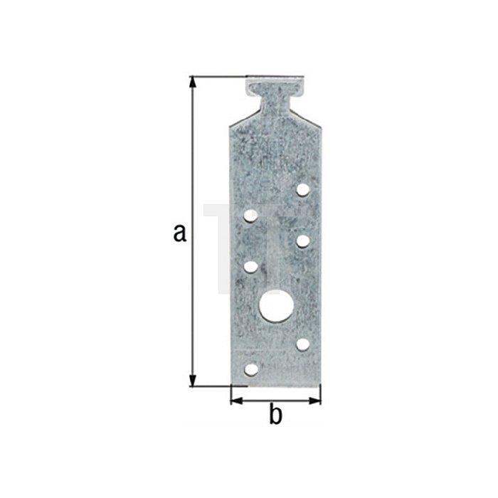 Profilanker 180x34mm Stahl roh sendzimirverzinkt f. Halfenschienen GAH