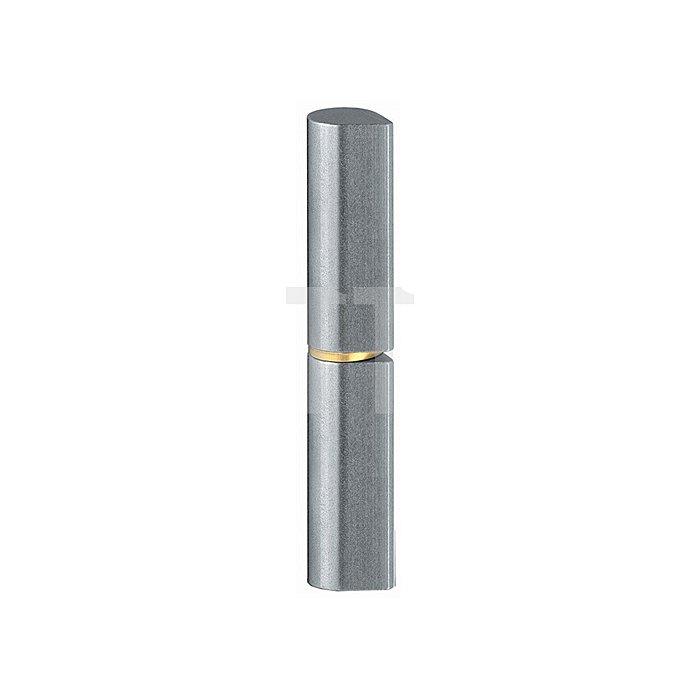 Profilrolle KO 50 Bandlänge 80mm Rollendurchmesser 13mm VA 2-teilig m.Rundkopf