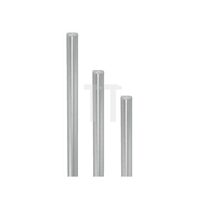 Profilstange Länge 1500mm Stahl vernickelt einseitig abgeflacht